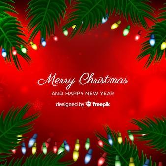 Рождественский фон в реалистичном стиле
