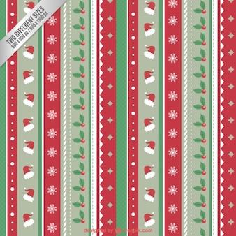 Рождественские фон в стиле полосы