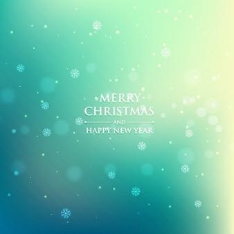 ターコイズカラーのクリスマスの背景
