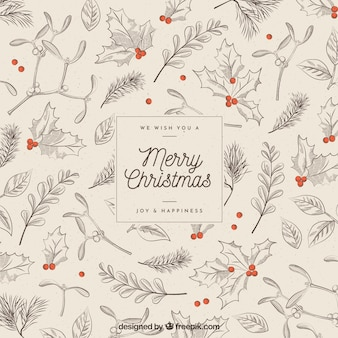 Christmas background in vintage style