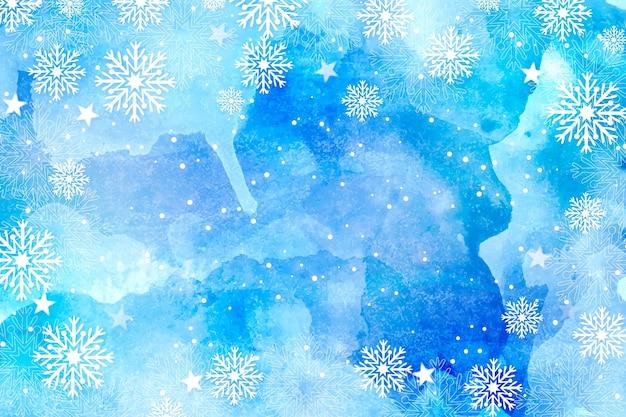水彩でクリスマスの背景