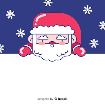 Christmas background linear santa claus