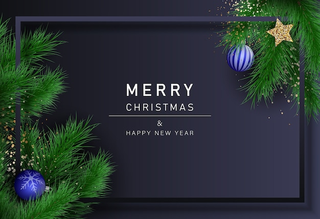 Christmas background. merry christmas and happy new year background