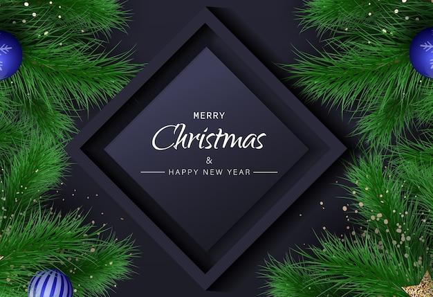 Christmas background. merry christmas illustration.