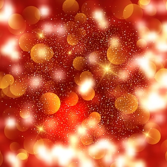 Christmas background of bokeh lights and stars