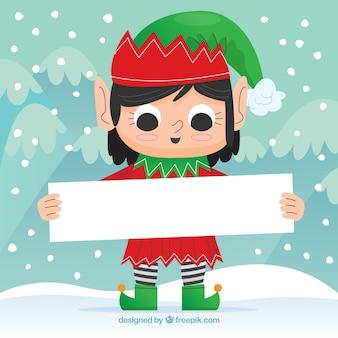 Рождественский фон с плакатом