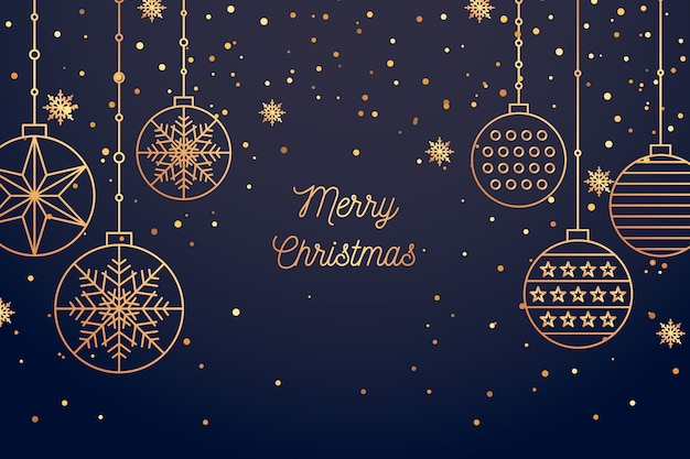 Christmas background in outline style