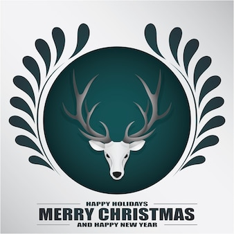 Christmas background in paper style.