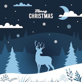 クリスマスの背景紙スタイル