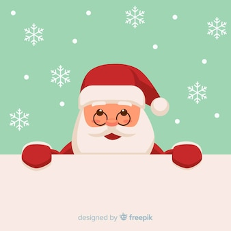 Christmas background peeping out santa