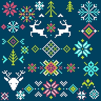 Christmas background pixel
