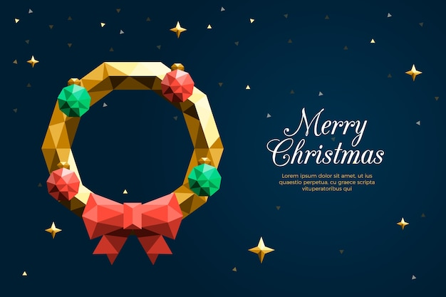 Christmas background in polygonal style
