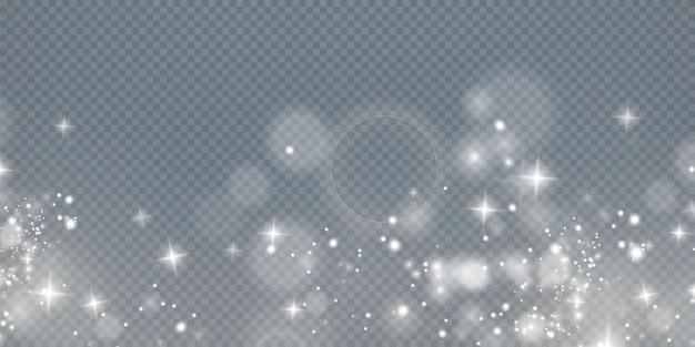 Новогодний фон пудра png волшебная сияющая белая пыль мелкие блестящие частицы пыли падают