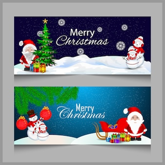 Christmas background and santa clous and gifts