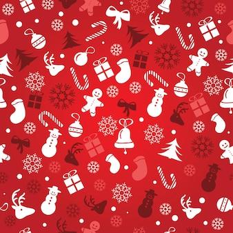 크리스마스 배경, 원활한 타일링, 포장지 패턴을 위한 훌륭한 선택 - 벡터