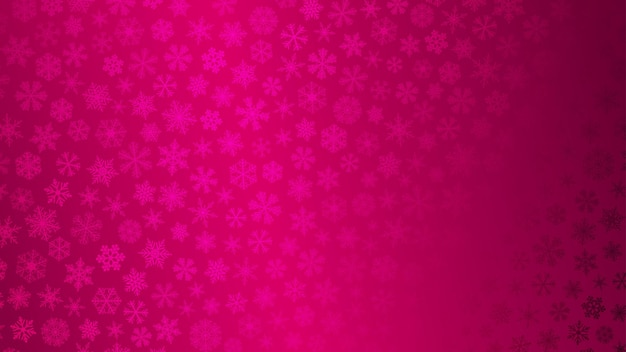 Christmas background of small snowflakes in pink colors