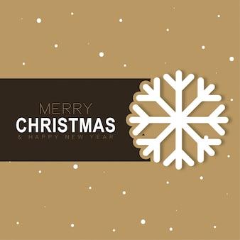 Christmas background snow