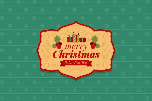 クリスマス背景ビンテージデザイン