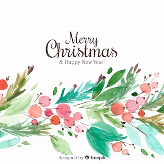 Christmas background in watercolor design