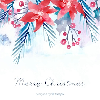 Christmas background in watercolor