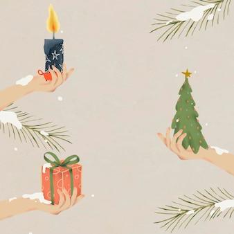 Рождественский фон, зимние каникулы сезон вектор