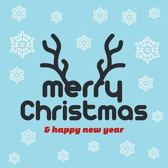 美しいタイポグラフィーとのクリスマスの背景