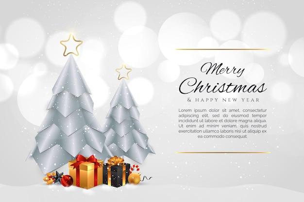 Новогодний фон с элементами рождества.