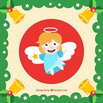 天使とクリスマスの背景