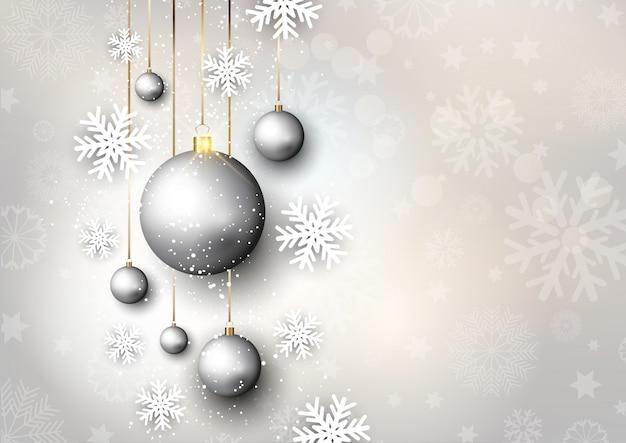 Рождественские фон с блесна и снежинки
