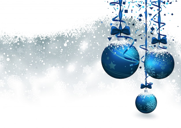 青いつまらないものでクリスマスの背景