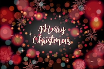 Christmas background with bokeh