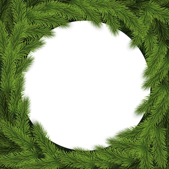 Christmas background with branches