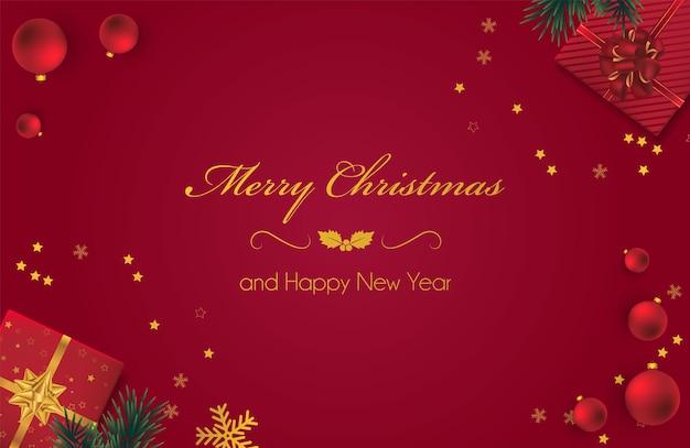 Новогодний фон с рождественскими подарками. векторная иллюстрация