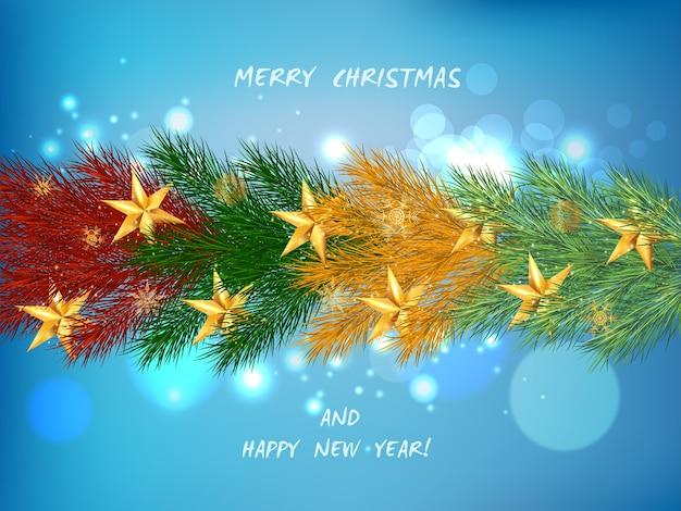 クリスマスツリーとクリスマスの背景