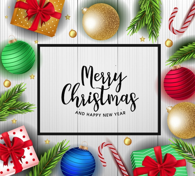 Christmas background with cute decorations