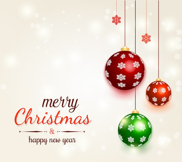 Christmas background with decorative balls
