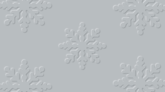 Christmas background with decorative paper cut snowflakes