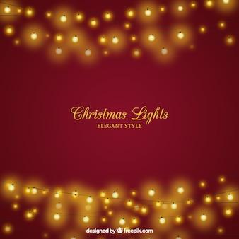 Christmas background with elegant lights