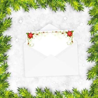Рождественский фон с enveloppe