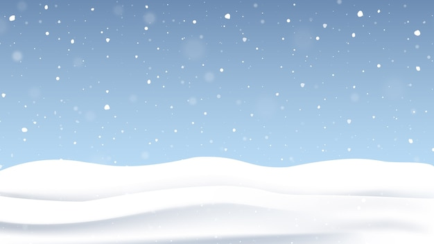 Christmas background with falling snow.