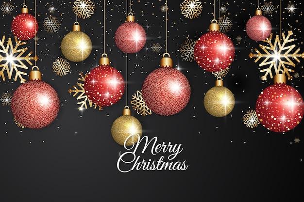 Рождественский фон с эффектом блеска