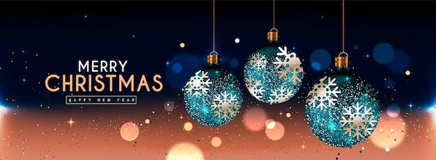 Christmas background with glitter effect