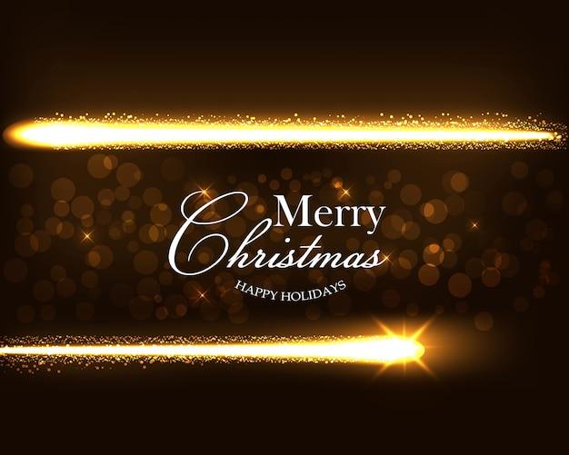 金の魔法の星のほこりとクリスマスの背景。