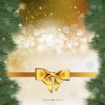 金色の火花とのクリスマスの背景