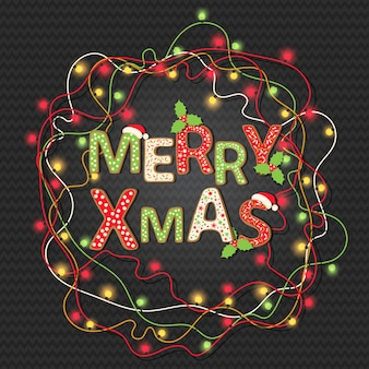 Christmas background with greeting quote