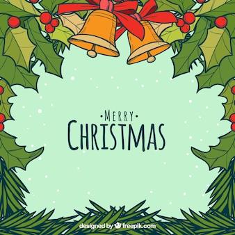Christmas background with mistletoe