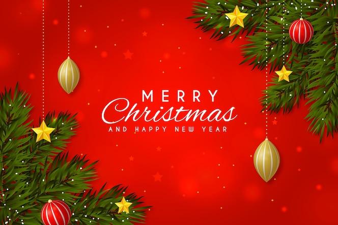 現実的な要素を持つクリスマスの背景