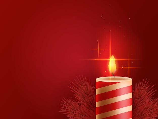 붉은 촛불 크리스마스 배경