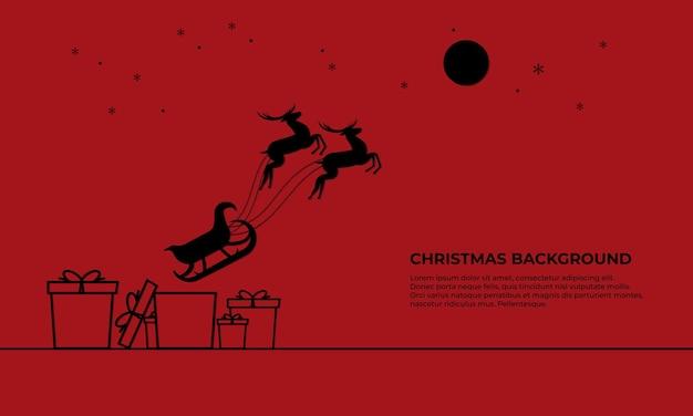 붉은 색으로 크리스마스 배경
