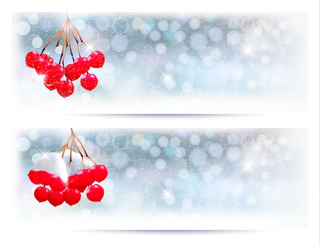 Christmas background with red gift ribbon with gift boxes and old paper